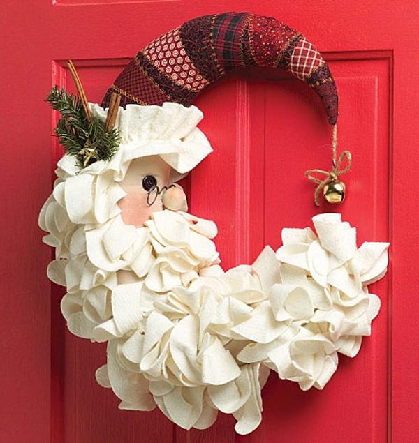 Украшение дверей к новому году своими руками фото