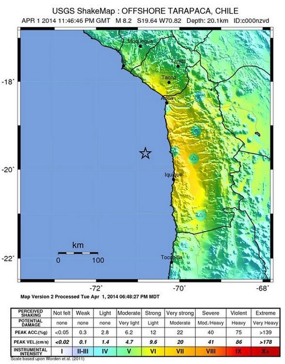cutremur chile tarapaca