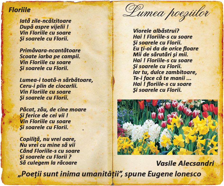 Lumea poeziilor: Vasile Alecsandri - Floriile