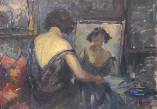 Imagini pentru pictură femeie privind în oglindă