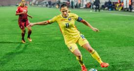 Căpitanul tricolorelor Fotbalista Florentina Olar Spânu, din Constanţa, înfruntă astăzi Olanda, cu echipa României