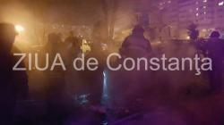UPDATE 1. Pompierii intervin în zona Casei de Cultură din Constanța (galerie foto + video)