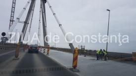 Din cauza ploilor, se prelungesc restricţiile pe podul de la Agigea. Cum se va circula în minivacanţa de 1 mai
