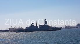 UPDATE. Escală în portul Constanţa În premieră, ofiţeri ai Forţelor Navale Române, la bordul distrugătorului britanic (galerie foto)