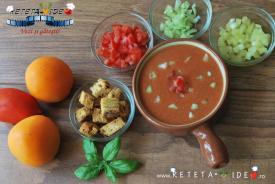 Gazpacho - supă rece de roșii (rețetă video)