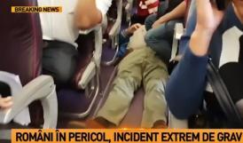 UPDATE. Incident la bordul unui avion ce zbura pe ruta București-Sicilia. Mai multe persoane au avut nevoie de îngrijiri medicale