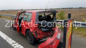 Maşină accidentată pe Autostrada Soarelui (galerie foto+video)