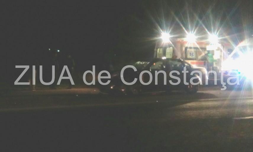 Imagini de la eveniment. Judetul Constanta. Accident rutier pe DN2A la intersectia cu drumul catre Nazarcea. Doua persoane au fost ranite (galerie foto + video)