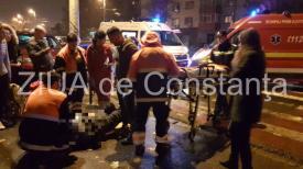 Accident rutier în zona Far. Pieton rănit (galerie foto + video)