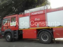 Incendiu la Medgidia. Pompierii la faţa locului