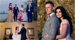 """A cântat """"Frumoasa mea"""" pentru recuperarea miresei Rugbystul Adrian Apostol s-a căsătorit la Constanţa cu Bianca Deacu (galerie foto + video)"""