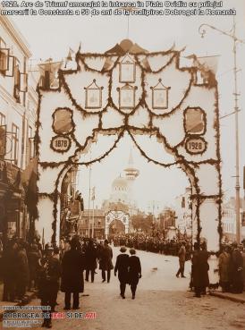 1928 Arc de Triumf amenajat la intrarea în Piaţa Ovidiu
