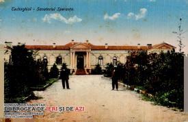 """Imagine de la Techirghiol, din fața Sanatoriului """"Speranța"""", monșer!"""