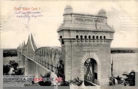 """Podul peste Dunăre """"Regele Carol I"""", surprins în anul 1907"""