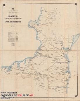Harta căilor de comunicație Constanța 1903