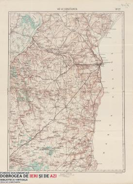 Hartă Constanța 1912