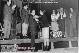 1965 Corneliu Leu, Ileana Ploscaru, soţii Simionică şi Paul Lavric pe scena constănţeană