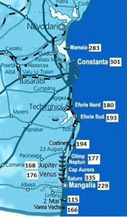 Harta Constanta Online Distante Rutiere Romania 2020 02 22