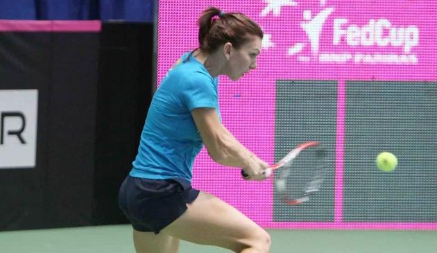 Simona Halep a disputat al doilea meci la intrecerea din Qatar