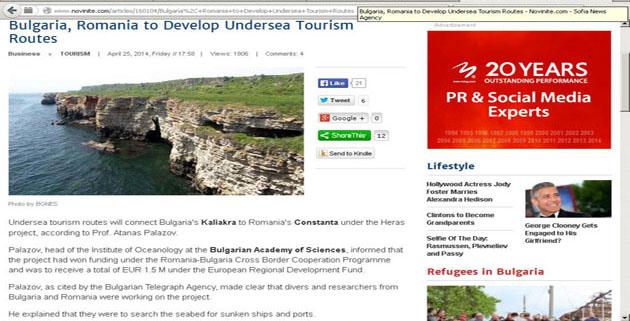 turism, trasee subacvatice, constanta, kaliakra