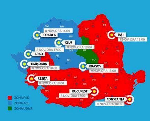 Mediafax Ro Harta Protestelor Impotriva Umilinței Romanilor Din