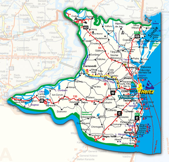 Harta Harta Judet Constanta Satelit
