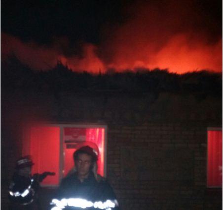 Incendiu la un magazin din Jijila-judetul Tulcea. Forte impresionante de interventie