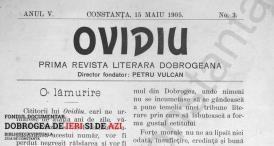 1905 Ovidiu: Prima revistă literară Dobrogeană