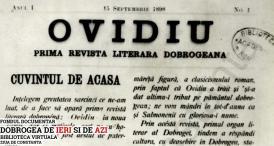 1898 Ovidiu: Prima revistă literară Dobrogeană