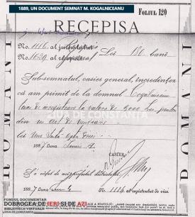 Un document semnat Mihail Kogalniceanu