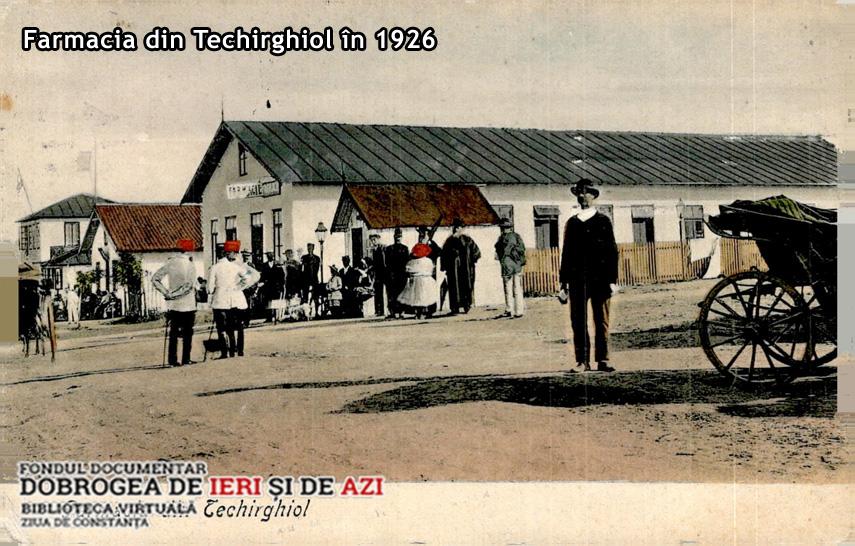 O Vedere Interbelică Cu Parfum De Epocă Farmacia Din Techirghiol 1926