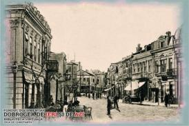Strada Carol, una dintre arterele comerciale ale orașului pe la 1900