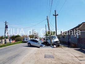 Oficial de la IPJ Constanța. Cum s-a petrecut accidentul de la Siminoc. O mamă și copilul ei au fost răniți