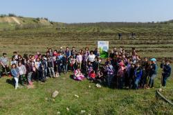 Iubim pământul, iubim natura, iubim viaţa  Zeci de persoane au participat la acţiunea Primăriei Cumpăna de plantare a 10.000 de puieţi (galerie foto)