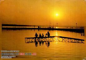 Un superb apus de soare la Siutghiol, Mamaia, în anul 1984