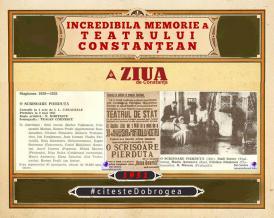"""#citesteDobrogea #memoriateatruluiconstantean: Spectacolul inaugural al Teatrului de Stat - """"O scrisoare pierdută"""", de I. L. Caragiale (1951)"""
