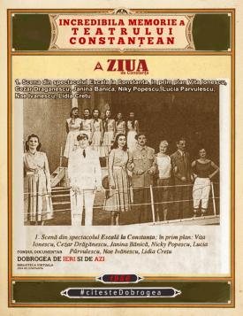 """#CiteşteDobrogea #memoriateatruluiconstantean:  Primul spectacol profesionist de estradă - """"Escală la Constanța"""""""