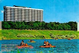 """Hotel Europa din Eforie, în 1971. """"Timpul este splendid și ne simțim foarte bine"""""""