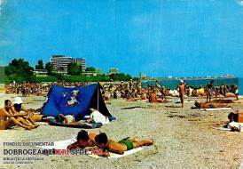 Cu cortul și cu rățoiul Donald, pe plaja din Mangalia