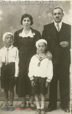 Simion Tavitian în familie