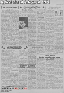 1970, Articol ziarul Adevărul