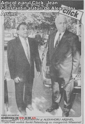Articol ziarul Click. Jean Constantin alături de Alexandru Arşinel