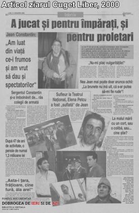 2000, Articol ziarul Cuget Liber