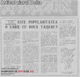 Articol ziarul Delta