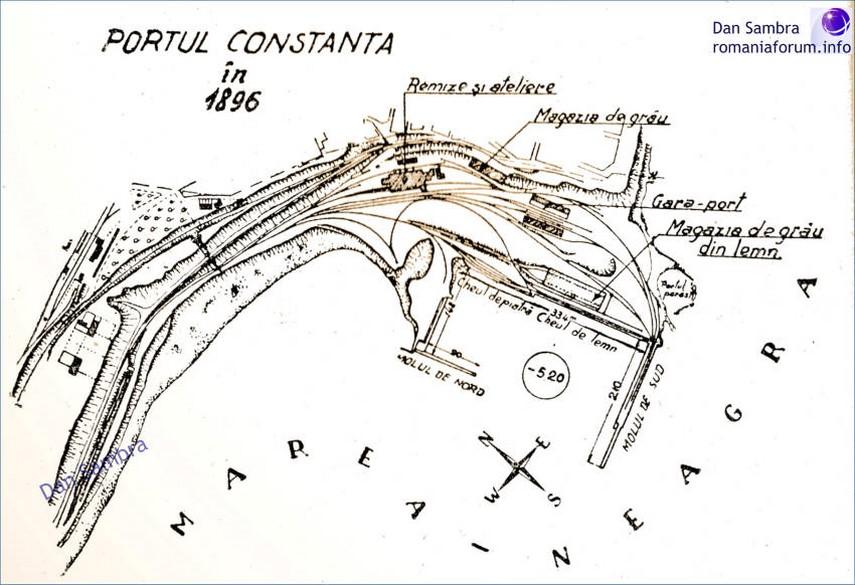 Harta Portul Constanta In 1896