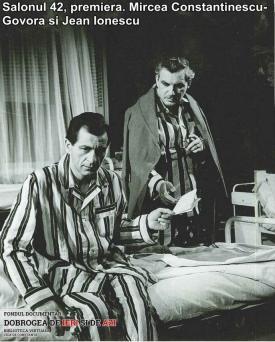 """""""Salonul 42"""", premiera. Mircea Constantinescu-Govora și Jean Ionescu"""