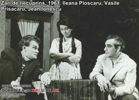 """""""Zări de necuprins"""", 1961. Jean Ionescu, Ileana Ploscaru, Vasile Prisăcaru"""