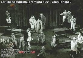 """""""Zări de necuprins"""", premiera, 1961. Jean Ionescu"""