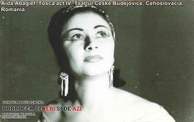"Aida Abagief. ""Tosca"", act IV. Teatrul ""Ceske Budejovice"", Cehoslovacia"