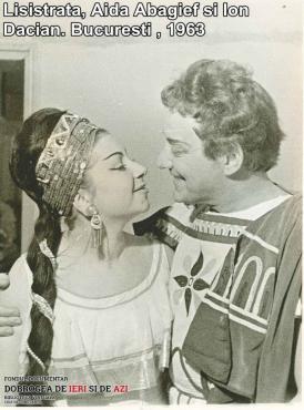 """Lysistrata"", Aida Abagief, Ion Dacian. București 1963"